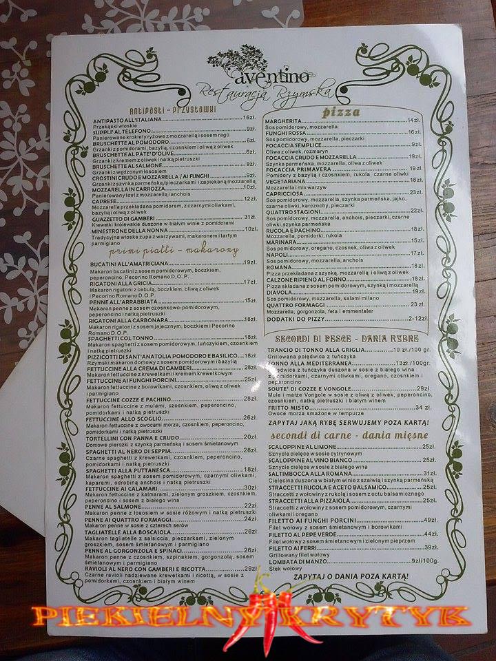 Aventino-menu